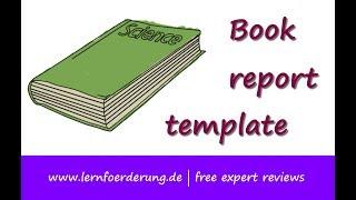 Lesson: Book Report Template