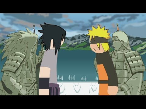 Naruto Vs Sasuke Stick Fight!!