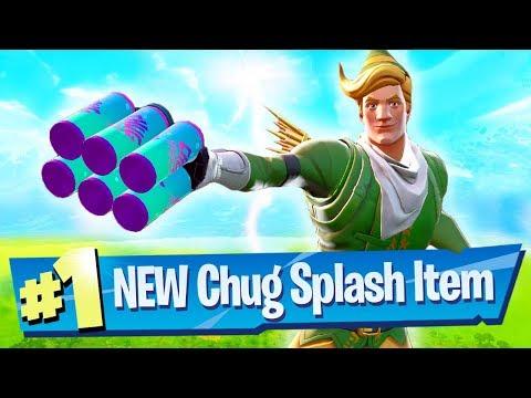 NEW Chug Splash Gameplay + Loot Lake Destroyed! - Fortnite Battle Royale