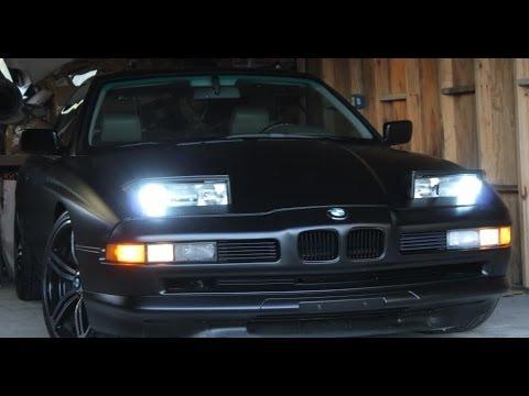 V12 e31 AZ BMW 850ci //M sport staggered M6 wheels before turbo walk around