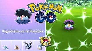 Clamperl  - (Pokémon) - REGISTRO DE CLAMPERL MÁS CLAMPERL SHINY! INCREÍBLE DÍA DE INVESTIGACIONES! [Pokémon GO-davidpetit]