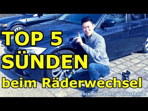 TOP 5 SÜNDEN BEIM RÄDERWECHSEL / REIFENWECHSEL Tipps & Tricks - TOP 5 Tire / Wheel Change Mistakes