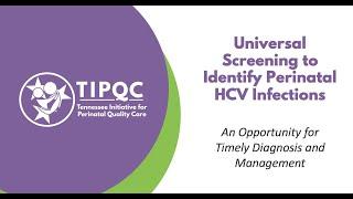 Perinatal HCV Screening Workshop