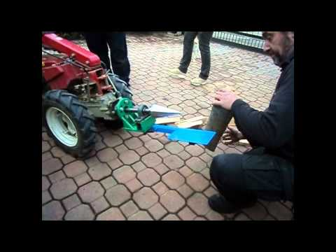 Vite spaccalegna su motocoltivatore screw log splitter on for Motozappa youtube