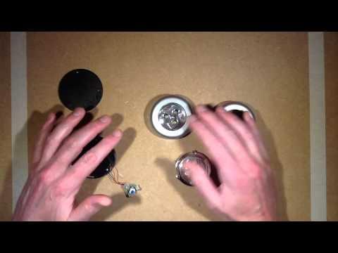 """Exploring the humble LED """"push light"""".  (Osram Dot-It clone.)"""