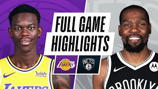 LAKERS at NETS | FULL GAME HIGHLIGHTS | April 10, 2021