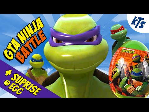 GTA Mod Amazing Ninja Turtles Battle With Surprise Eggs Unboxing