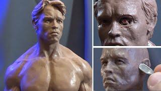 Sculpting Timelapse -Arnold Schwarzenegger (Terminator T-800)