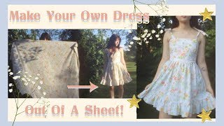 DIY: Sew A Dress From A Sheet💫 | Thetwinsofhearts