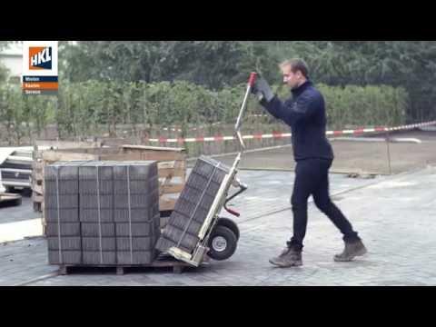 Probst Transportkarre VTK-V & Steinzieher SZ & Plattenheber PPH im Einsatz | HKL BAUSHOP | 4K/UHD
