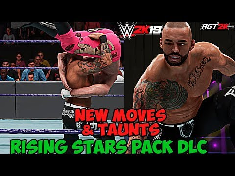 AGT - WWE 2K19 | RISING STARS PACK DLC - ALL New Moves & Taunts! (ПОРИКОШЕТИМ?)