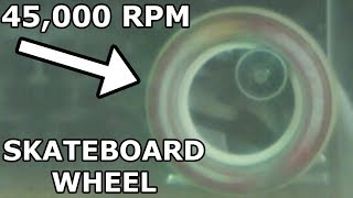 45,000 RPM Exploding Skateboard Wheel With A 60,000 PSI Waterjet Cutter - Slow Mo - Part 2
