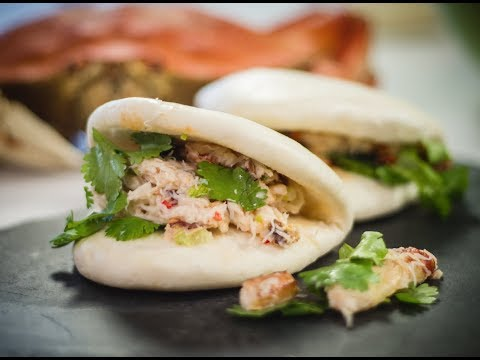 Spicy Crab Bao Bun appetizer recipe