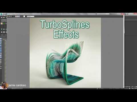using turbosplines plugin in 3ds max tutorial by jamie cardoso