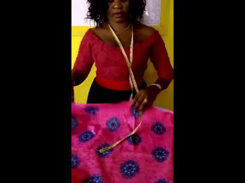 How to cut African wrapper/ iro