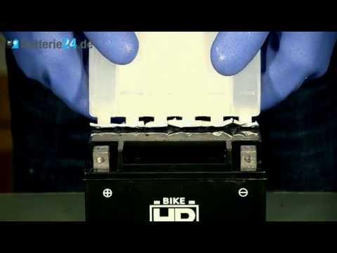 AGM Motorradbatterie mit Säure befüllen
