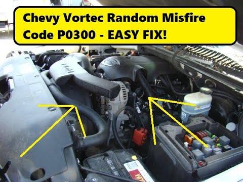 Chevy GMC Misfire Codes P0300 - Crankshaft Variation relearn