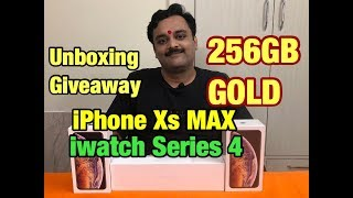 Unboxing Apple iPhone Xs Max GOLD, First Look, Hands On, Giveaway, Apple Watch Series 4