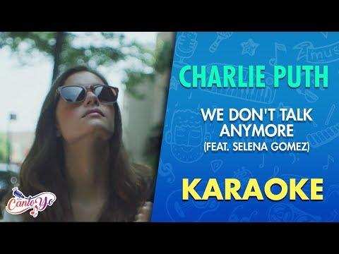 Charlie Puth - We Don't Talk Anymore (Karaoke) | CantoYo