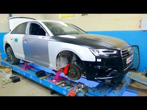 Фото Audi A4. Споттерные работы с полкой крыла. Сборка.