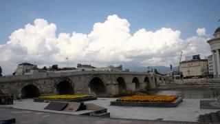 アキーラさん観察①旧ユーゴスラビア・マケドニア・スコピエ・オスマントルコ朝時代に建てられたの石橋,Stone-bridge,Skopje,Macedonia