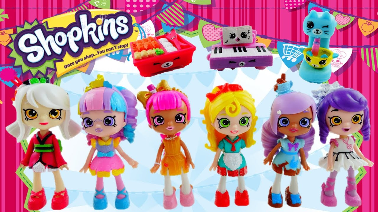 Shoppies Mini Dolls with Exclusive Happy Places Petkins Shopkins Toy Unboxing and Doll Review
