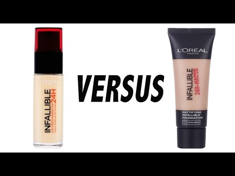 L'Oréal Infallible Foundations 24hr Matte vs 24hr Stay Fresh | First Impressions Comparison.