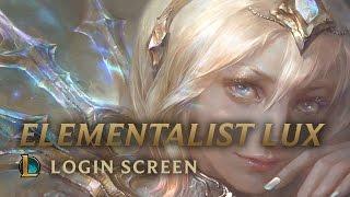 Elementalist Lux   Login Screen - League of Legends