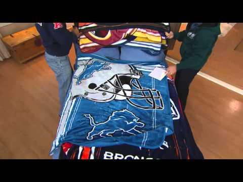 "NFL Team Plush 50"" x 60"" Throw Blanket by Northwest with Rick Domeier"