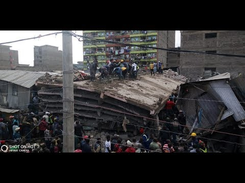 BREAKING NEWS: Six-storey Building collapses in Nairobi; Several feared trapped in the rubble