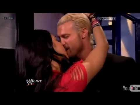 Dolph Ziggler Kiss AJ Lee, Backstage On Raw
