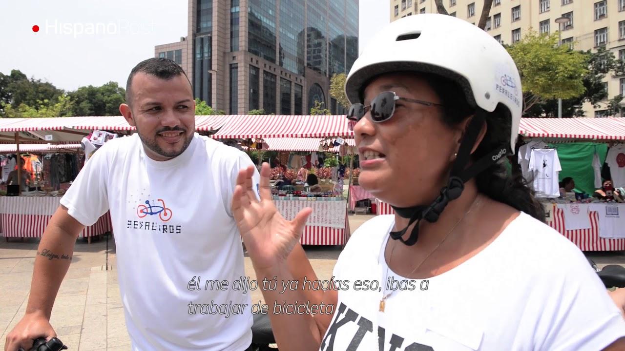 Deficientes visuales reviven la experiencia de montar en bici