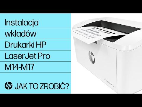 Jak zainstalować wkłady w drukarkach HP LaserJet Pro M14-M17