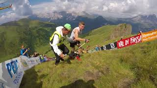 Davide Magnini (ITA) VK Dolomyths run 2018 winner last meters