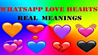 whatsapp love hearts emojis  real meanings #jbncreations