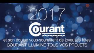 Courant Christmas and New year wishes Card