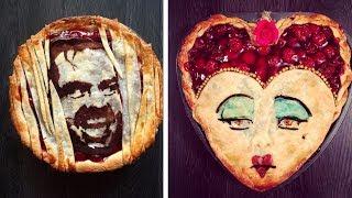 Кондитер делает на пирогах иллюстрации известных персонажей