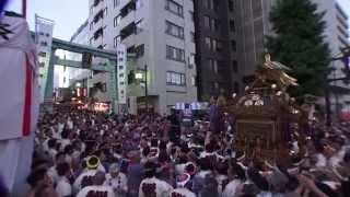 平成25年 神田祭り  神田 市場 千貫神輿 パワフル渡り御の撮影です。