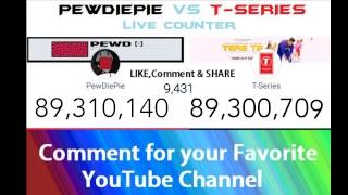 pewdiepie vs t series live subscriber wars - TH-Clip