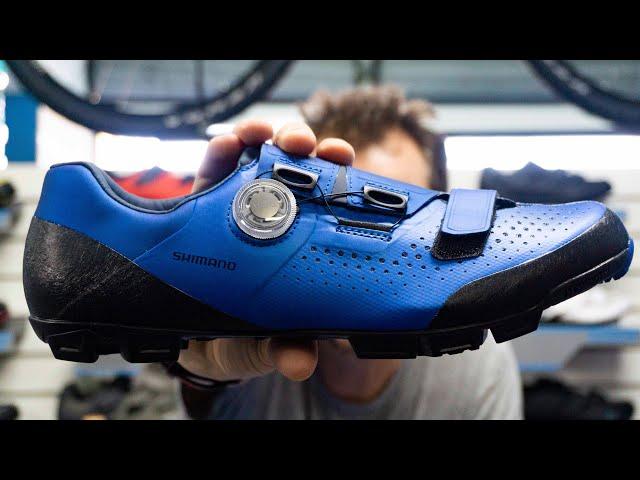 Видео Велотуфли Shimano SH-XC501MB синие