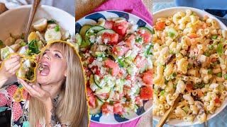 3 Easy Vegan Salad Recipes   Vegan Macaroni Salad Potato Salad & Watermelon Feta Salad