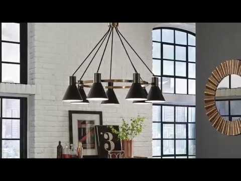 Video for Towner Satin Bronze 24-Inch Three-Light Chandelier