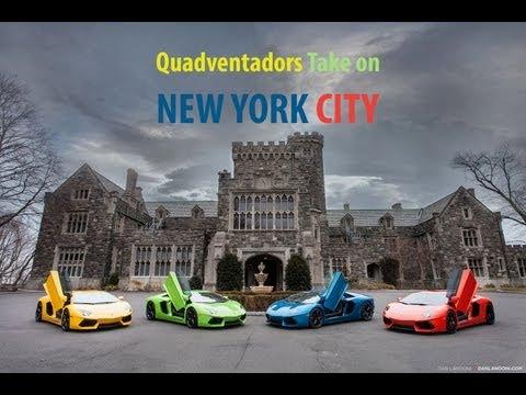 Watch Four Gorgeous Lamborghini Aventadors Do Their Thing Around New York