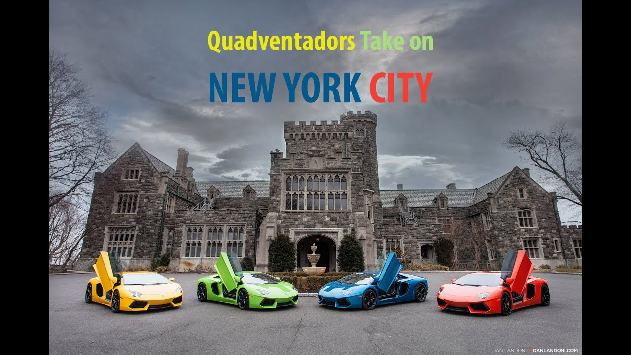 Watch Four Gorgeous Lamborghini Aventadors Do Their Thing Around New York