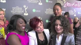 Sara Gilbert, Mrs. Osbourne, Aisha Tyler & Sheryl Underwood talk Daytime Emmys