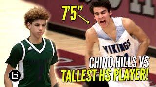 Chino Hills vs TALLEST PLAYER IN HIGH SCHOOL!! Chino Hills vs Pleasant Grove Full Highlights!