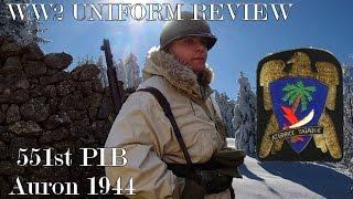 US WW2 Uniform Review: 551st PIB - Auron/Alpes Maritimes [ ENG SUB ]