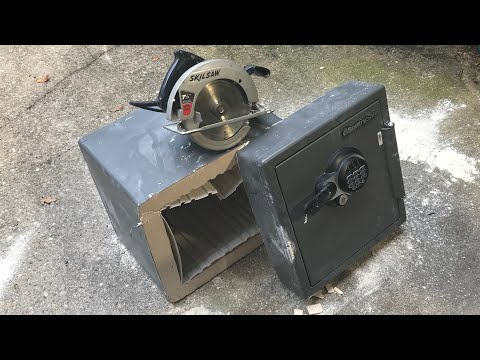 [756] Sentry Safe Cut in Half FAST!