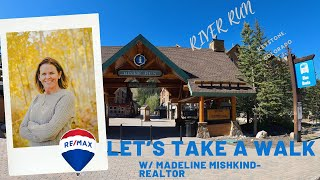Let's take a walk through River Run Village in Keystone, Colorado  (4K)