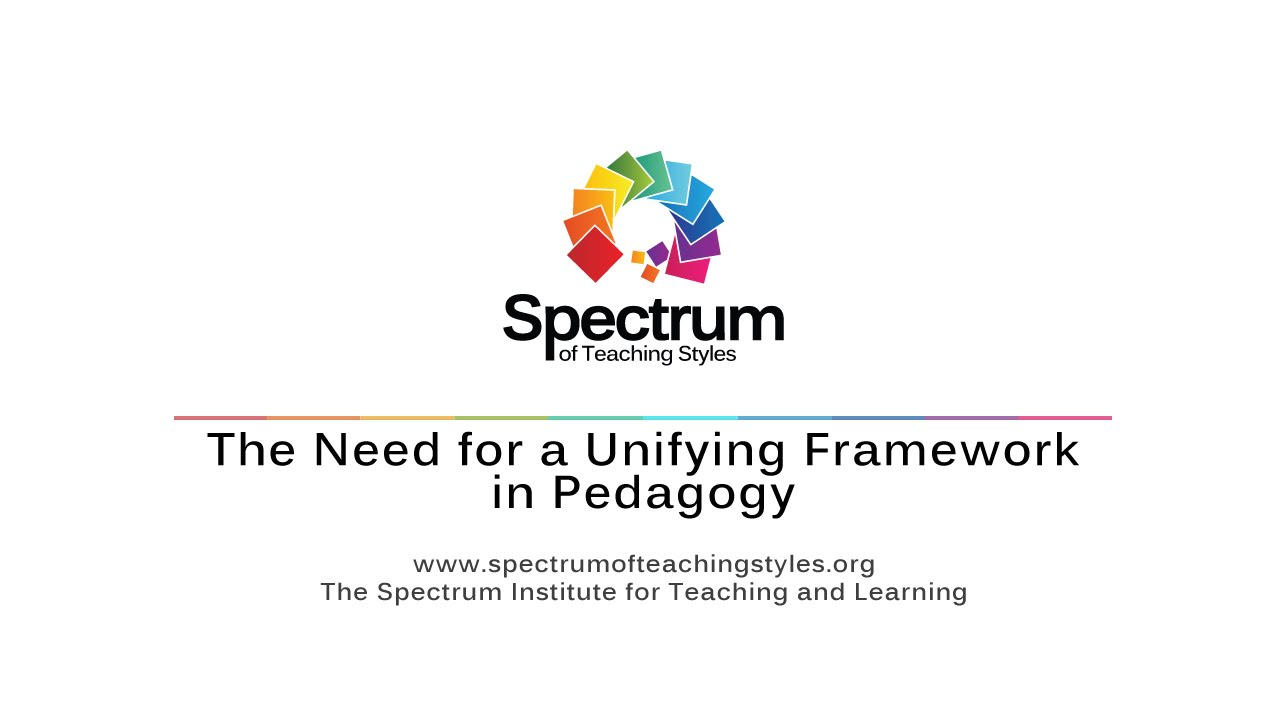 The Need for a Unifying Framework in Pedagogy's thumbnail